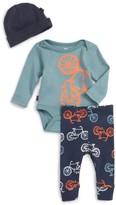 Tea Collection Infant Boy's Cycle Bodysuit, Pants & Hat Set