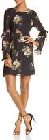 June & Hudson Floral Bell-Sleeve Dress - 100% Exclusive