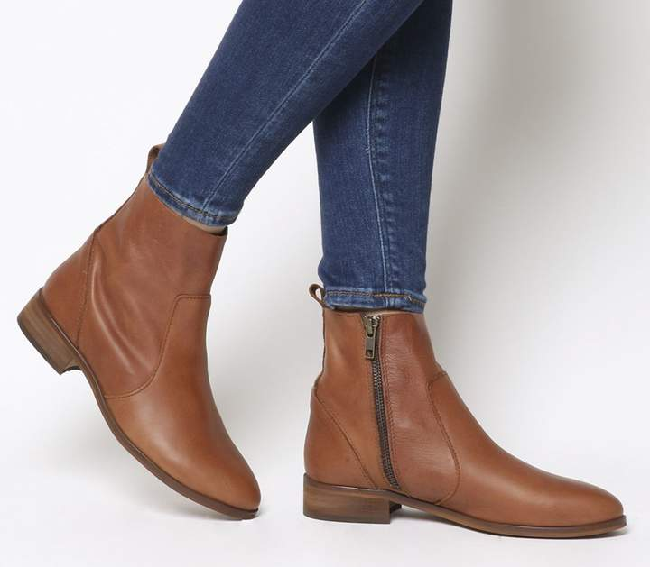 68dd1d94917 Flat Ankle Boot With Side Zip - ShopStyle UK