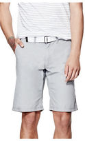 GUESS Men's Thae Textured Flat-Front Shorts