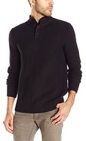 Vince Camuto Men's Solid Mock-Neck 1/4-Zip Sweater