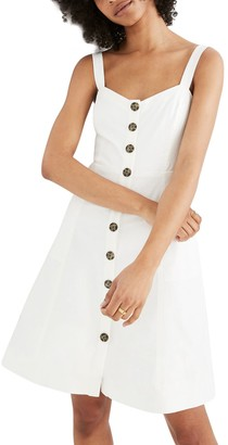 Madewell Button Front Tank Dress