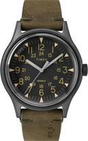 Timex R) MK1 Leather Strap Watch, 40mm