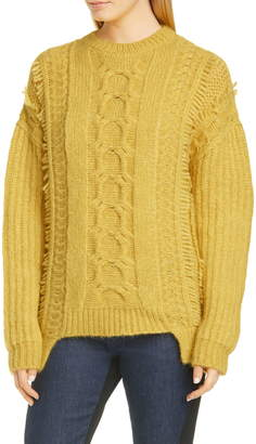 Stella McCartney Cable Knit Alpaca Blend Sweater