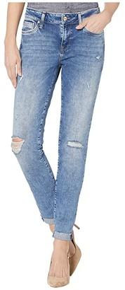 Mavi Jeans Ada Mid-Rise Boyfriend in Used Ripped/Fringe Vintage (Used Ripped/Fringe Vintage) Women's Jeans