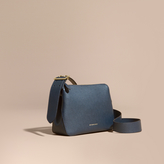 Burberry Buckle Detail Leather Crossbody Bag, Blue