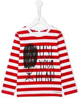 Burberry use your head printed top - kids - Cotton - 12 yrs