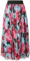 Dolce & Gabbana rose print chiffon skirt
