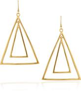 22-karat gold-plated triangle earrings