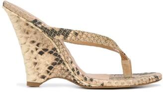 Yeezy Snakeskin Effect 110 Wedge Sandals
