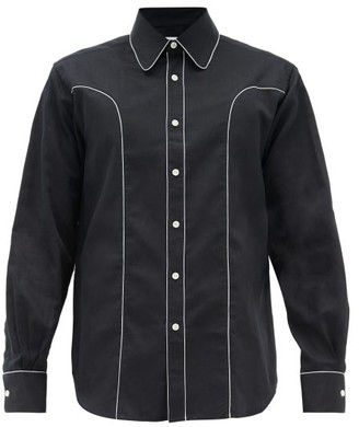Cobra S.C. Western Piped Cotton Shirt - Navy