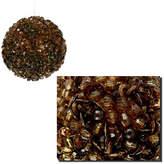 Asstd National Brand Lavish Chocolate Brown Fully Sequined & Beaded Christmas Ball Ornament 3.5