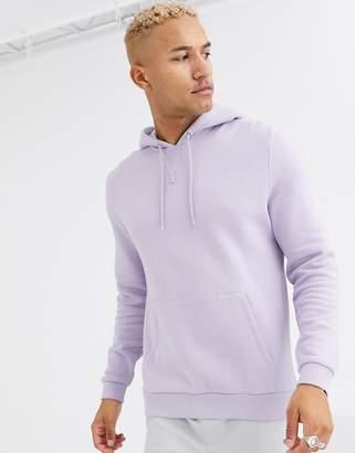 Asos Design DESIGN hoodie in lilac-Purple
