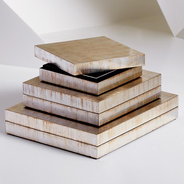 Natori Rectangular Antique Foil Lacquer Box, Medium
