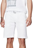 GUESS Factory Men's Thae Textured Flat-Front Shorts