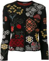 Alexander McQueen floral patch cardigan
