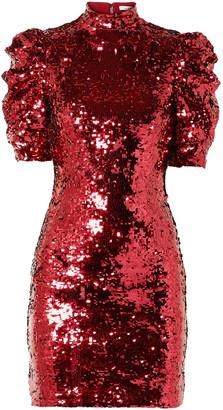 Alice + Olivia Brenna Sequined Tulle Mini Dress