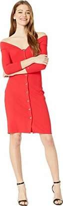 Bebe Womens Off Shoulder Mini Dress LG
