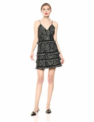 Keepsake Women's Imagine Sleeveless Lace Ruffle Trim Short Mini Dress