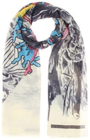 Stella McCartney Sea printed scarf