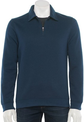 Croft & Barrow Men's Fleece Quarter-Zip Polo
