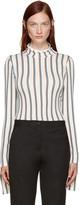 Aalto White Striped Turtleneck