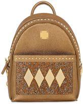 MCM Stark Kristall Textured Leather Backpack