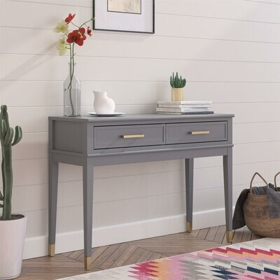 "CosmoLiving by Cosmopolitan Westerleigh 41.1"" Console Table Color: Graphite Gray"