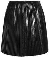 MSGM Pleated Coated Cady Mini Skirt