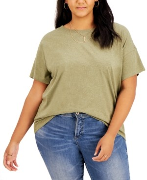 Style&Co. Style & Co Plus Size Cotton Drop-Shoulder T-Shirt, Created for Macy's