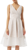 Adrianna Papell Bonded Mesh High Low Dress, Ivory
