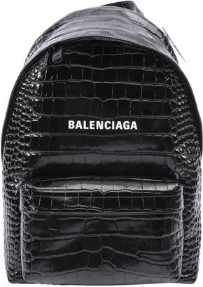 Balenciaga Black Leather Backpacks