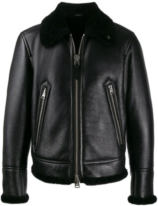 Tom Ford Wool Lined Leather Jacket