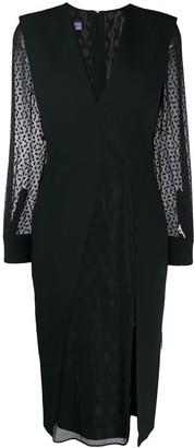 Emanuel Ungaro Pre-Owned 1990's Sheer Sleeves Slit Dress