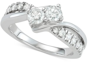 Two Souls, One Love Diamond Two-Stone Diamond Engagement Ring (1 ct. t.w.) in 14k White Gold