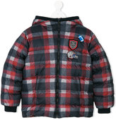 Dolce & Gabbana checked padded jacket - kids - Cotton/Feather Down/Acrylic/Goose Down - 6 yrs