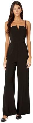 WAYF Brigham Convertible Strap Jumpsuit (Black) Women's Jumpsuit & Rompers One Piece