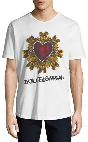 Dolce & Gabbana Men's Sacred Heart Graphic Jersey T-Shirt