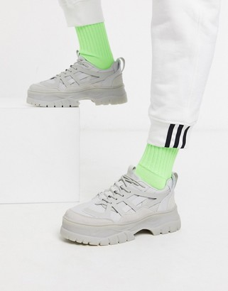 ASOS DESIGN chunky trainers in colour drench