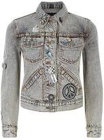 Marc Jacobs Embellished and Embroidered Denim Jacket