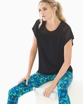 Soma Intimates Cotton Blend Mesh Detail T-Shirt