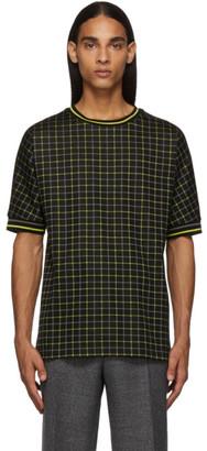 Paul Smith Black and Yellow Tattersal Check T-Shirt
