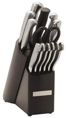 Sabatier 14 Piece Stainless Steel Handle Knife Block Set Black