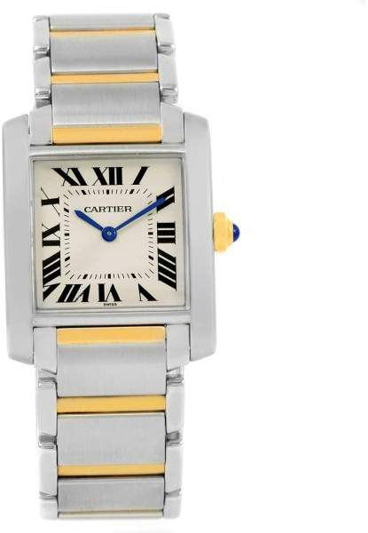 Cartier Tank Francaise W2TA0003 Stainless Steel & 18K Yellow Gold 25mm Womens Watch