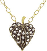 Cathy Waterman Rose Cut Diamond Leaf Necklace - 22 Karat Gold
