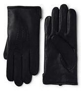 Classic Men's Cashmere Lined Leather Gloves-Forest Night