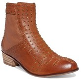Kensie Womens Audrina Leather Cap Toe Ankle Fashion Boots, Cognac, Size 6.0.