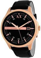 Giorgio Armani Exchange AX2129 Men's Classic Black Leather Watch