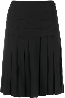 Chanel Pre Owned 2006 High-Waisted Pleated Skirt