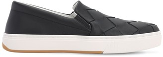 Bottega Veneta 20mm Woven Leather Slip-on Sneakers